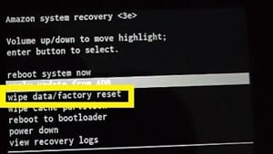 How to Reset Amazon Kindle Fire Tablet