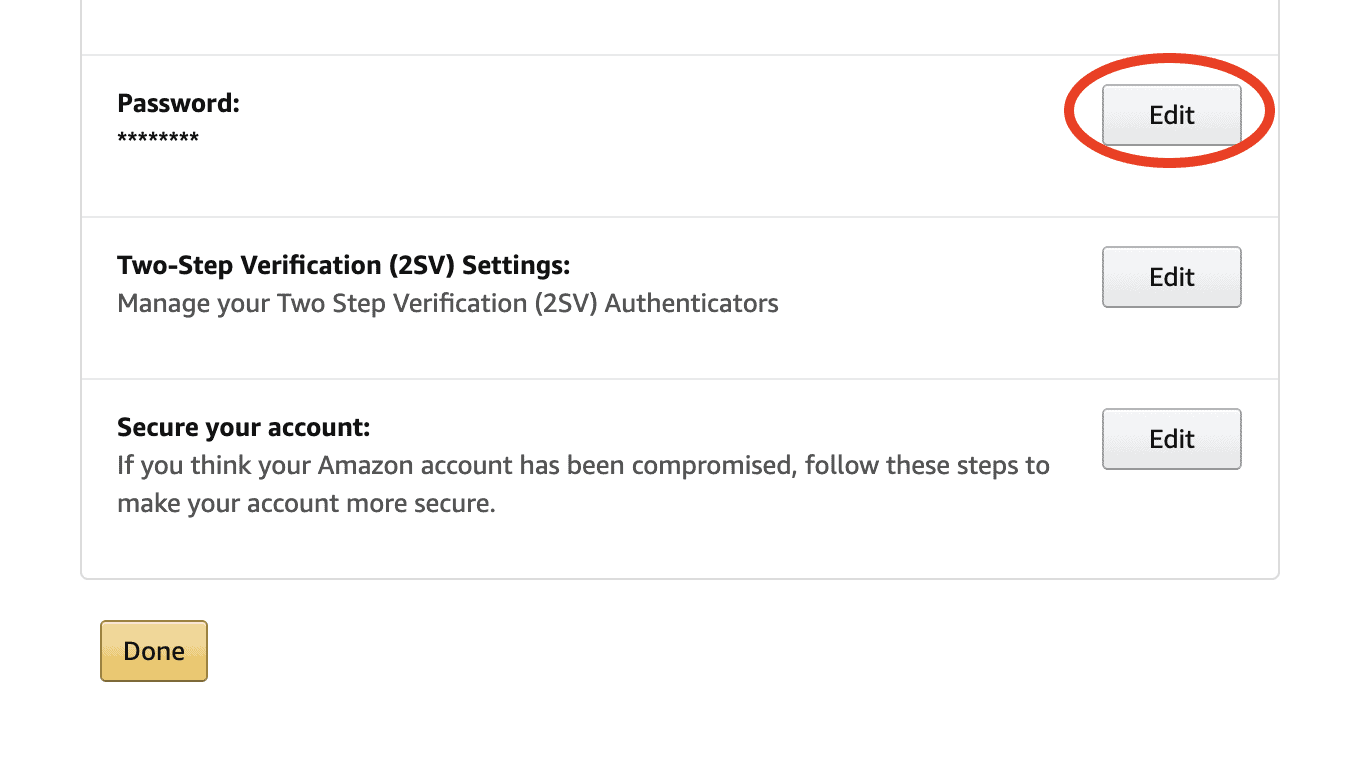 How to change your Amazon password on the website