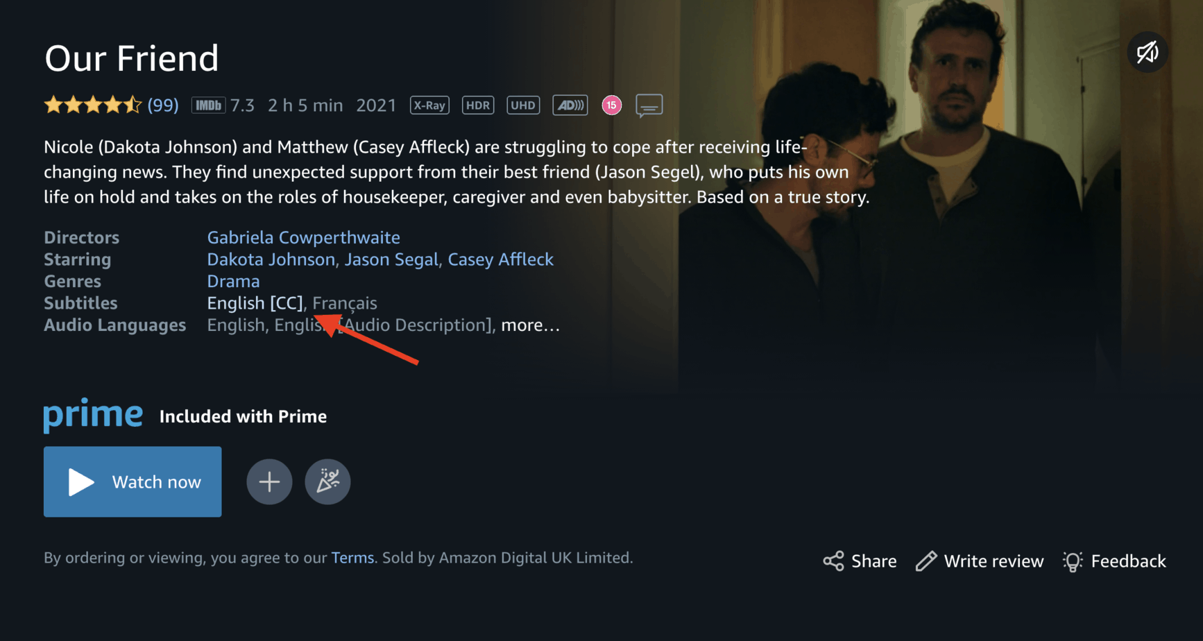 How to Turn Subtitles On and Off on Amazon Prime