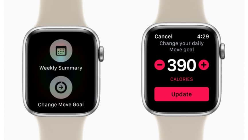 change your Apple Watch's calorie goal