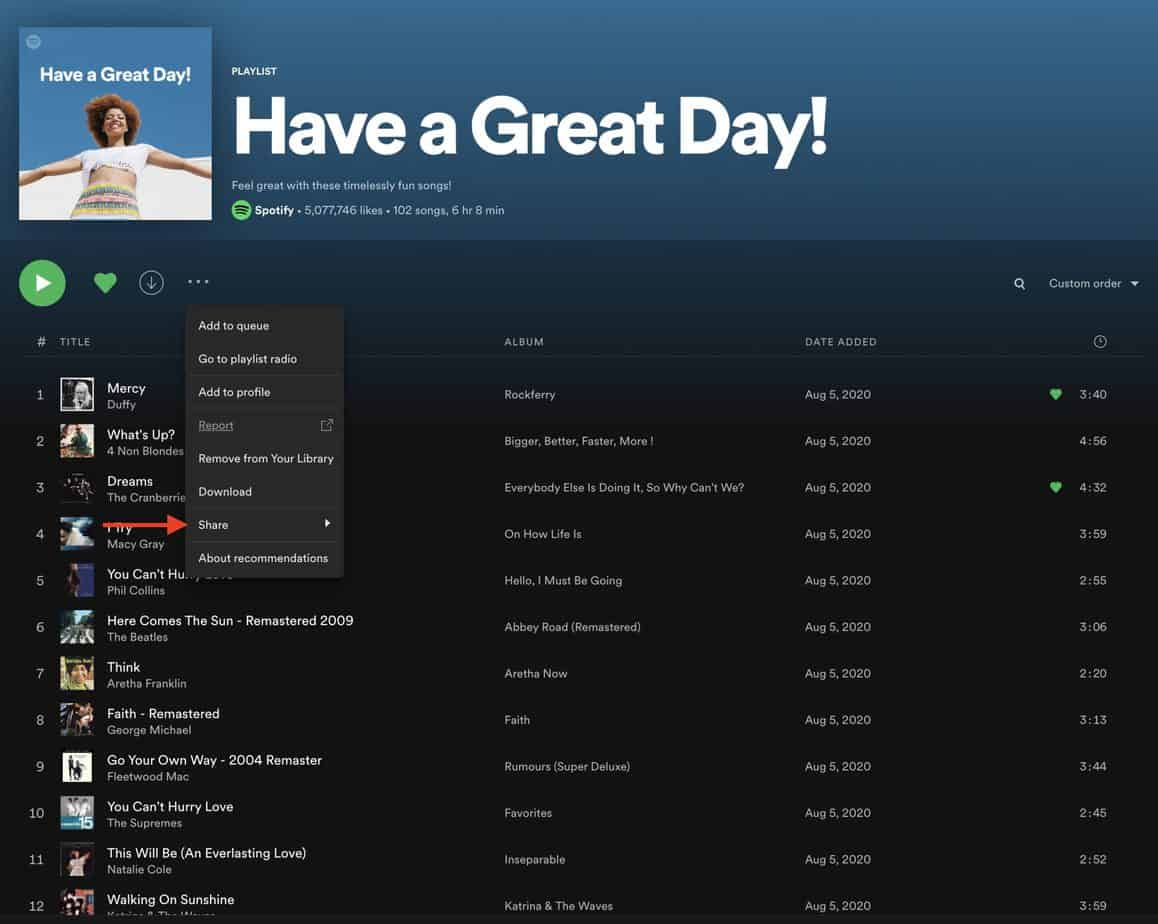 How to Share your Spotify Playlist