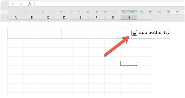 An example watermark in Microsoft Excel.