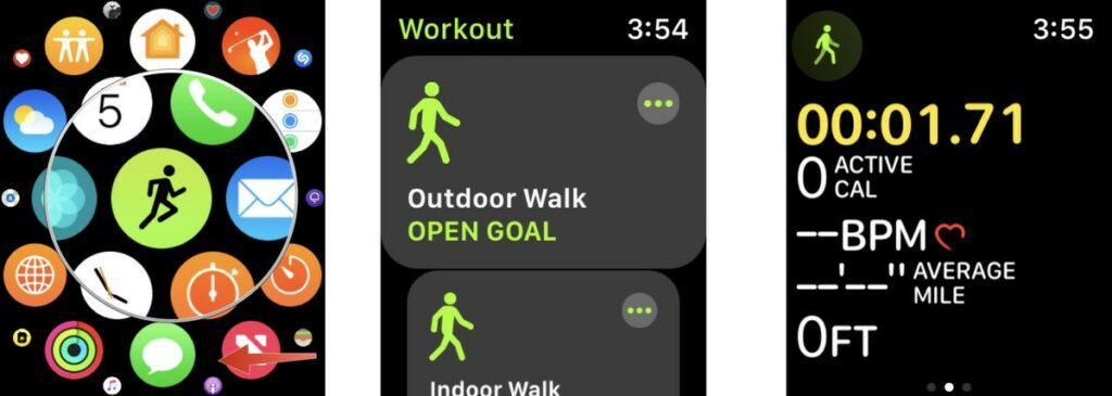 Select the workout